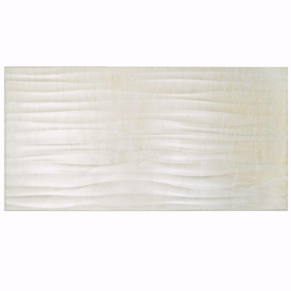 Deco Dubai Pearl 12-1/2 in. x 24-1/2 in. Porcelain Wall Tile