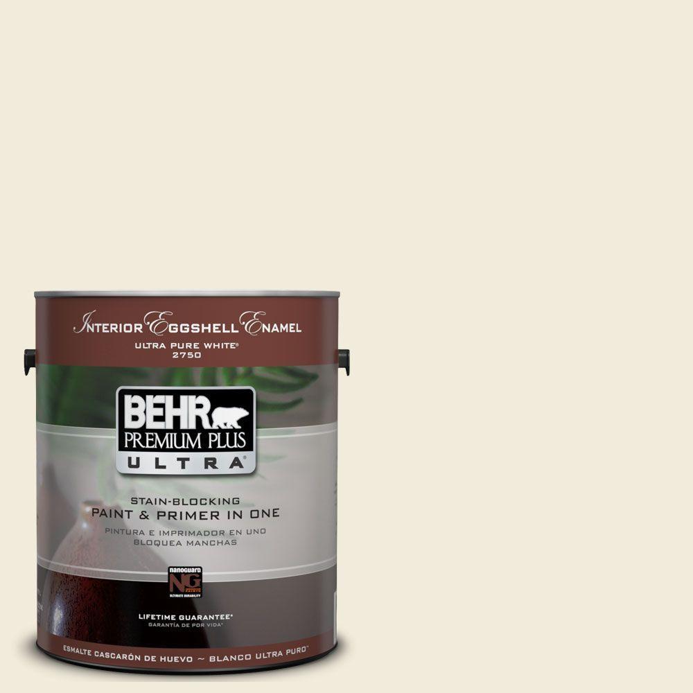 BEHR Premium Plus Ultra 1-Gal. #UL160-11 Coastal Beige Interior Eggshell Enamel Paint