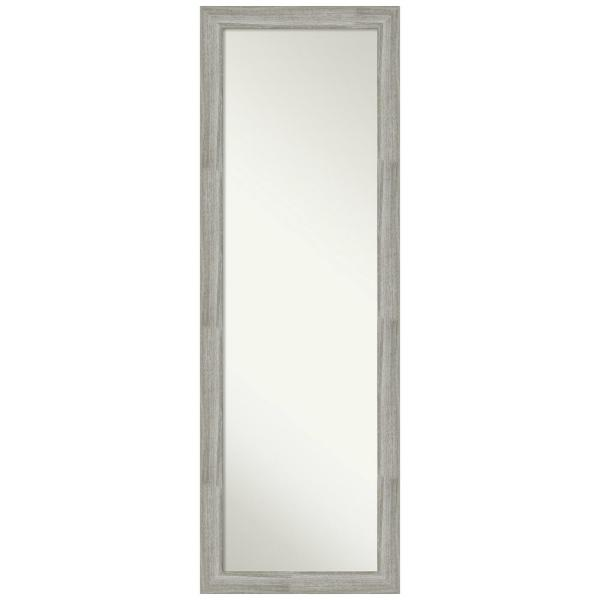 Large Rectangle Distressed Grey Modern Mirror (51.5 in. H x 17.5 in. W)