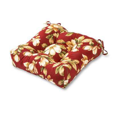 Roma Floral Square Tufted Outdoor Seat Cushion