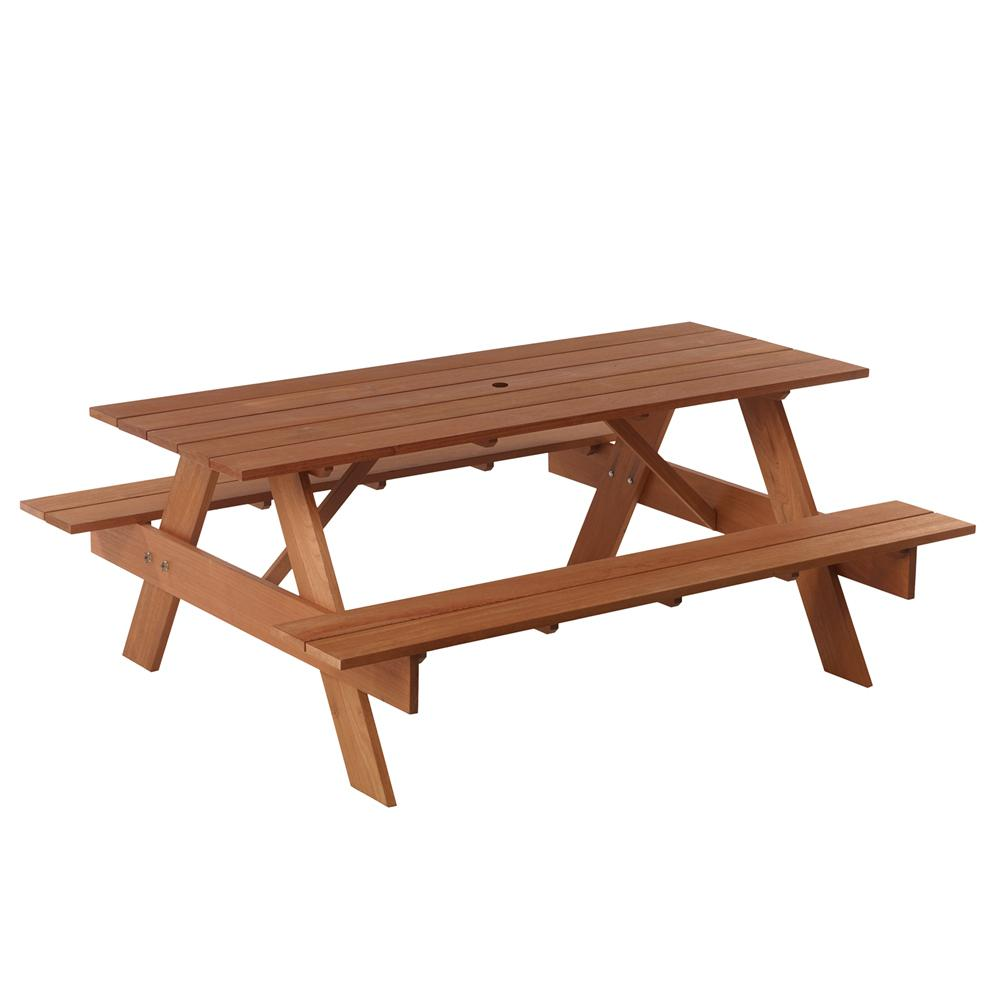 6 ft. Premium Red Balau Hardwood Patio Picnic Table