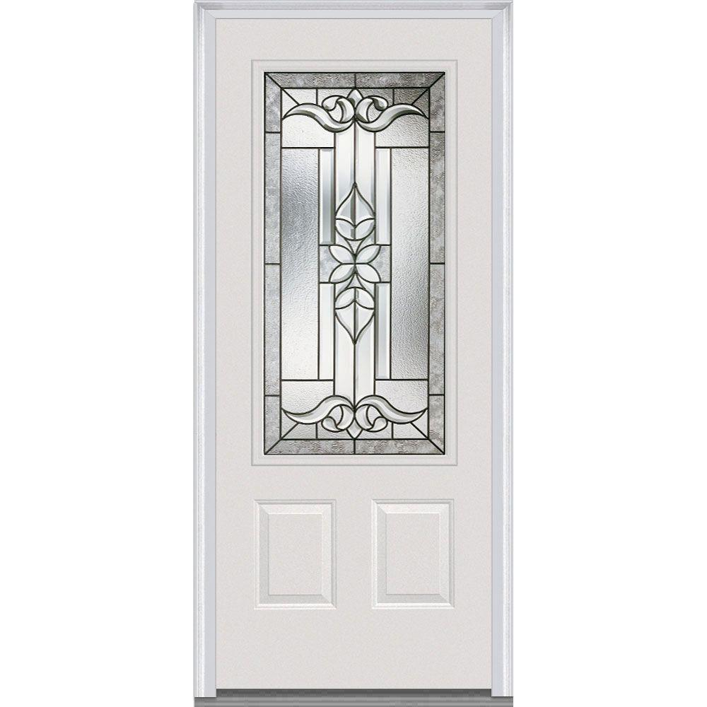 36 in. x 80 in. Cadence Left-Hand Inswing 3/4-Lite Decorative 2-Panel