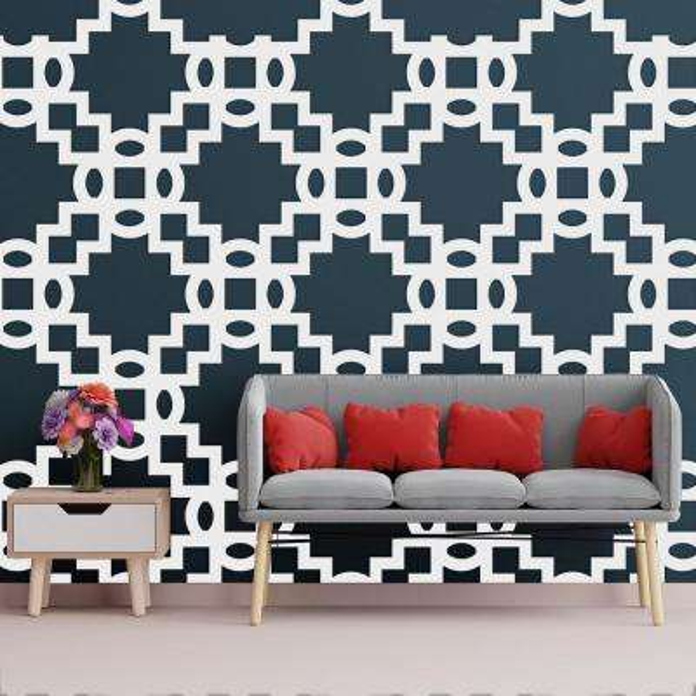 3/8 in. x 35-3/4 in. x 23-3/4 in. Large Cordova White Architectural Grade PVC Decorative Wall Panels
