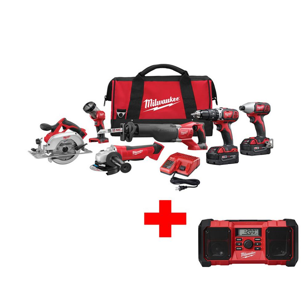 Milwaukee M18 18 Volt Lithium Ion Cordless Combo Kit 6