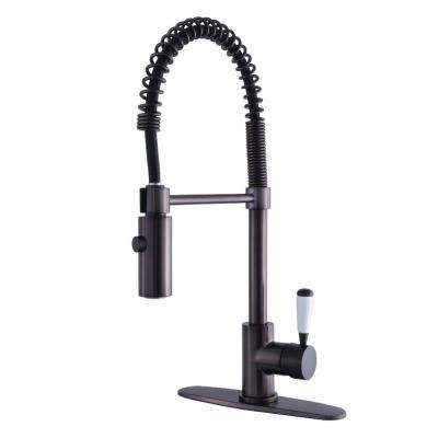 Modern Single-Handle Pull-Down Sprayer Kitchen Faucet in Oil Rubbed Bronze