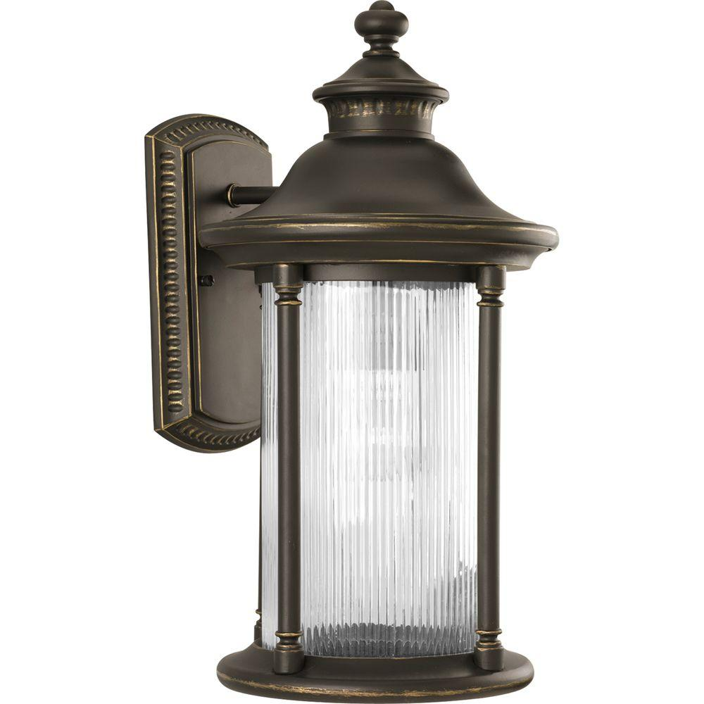 Progress Lighting Reside Collection Oil Rubbed Bronze 1-Light Wall Lantern
