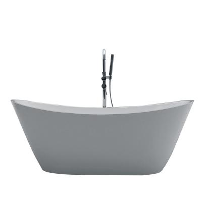 Bella 60 in. Acrylic Flatbottom Bathtub in White