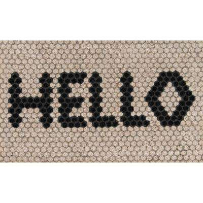 Aloha Hello Hex Tile 1 ft. 6 in. x 2 ft. 6 in. Door Mat