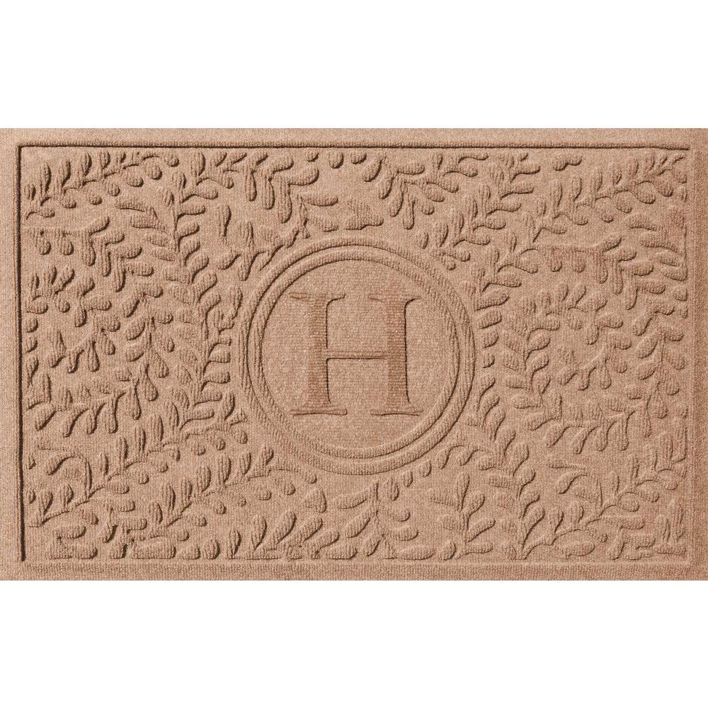 Boxwood Medium Brown 24 in. x 36 in. Monogram H Door