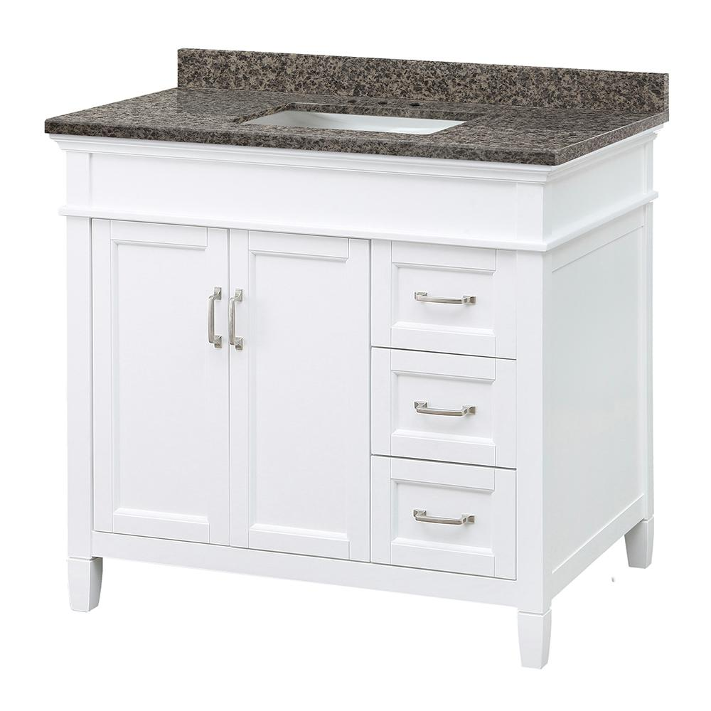 Foremost Ashburn 37 In W X 22 In D Vanity In White With