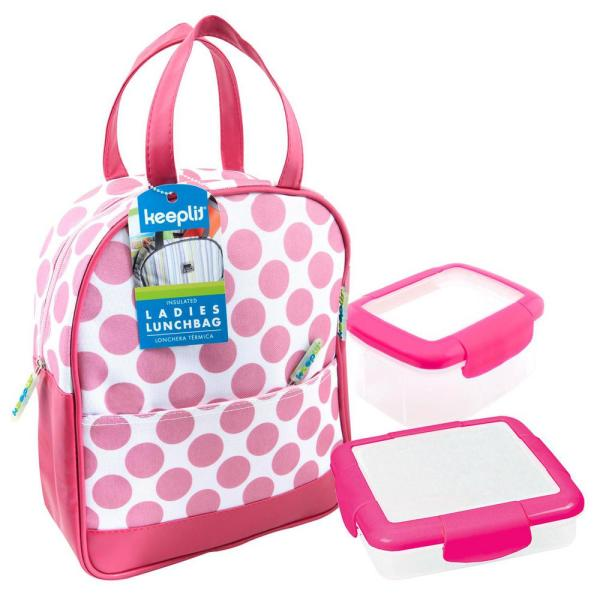 Keeplit Keep& Go 3-Piece Food Storage Container Assorted Pack in Pink