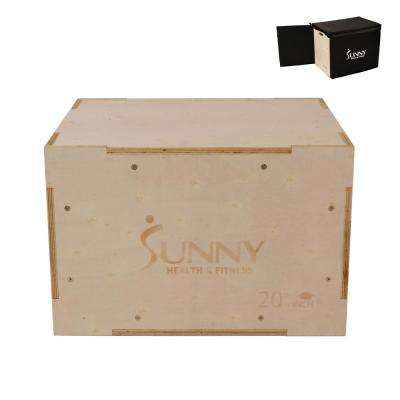 Sunny Health and Fitness Wood Plyo Box with Cover