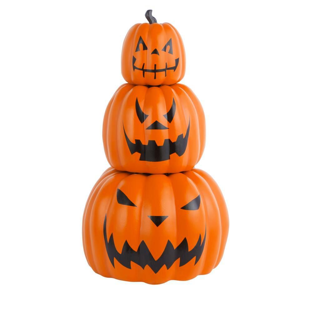 26.5 in. Halloween 3-Piece Stackable Jack-O-Lanterns