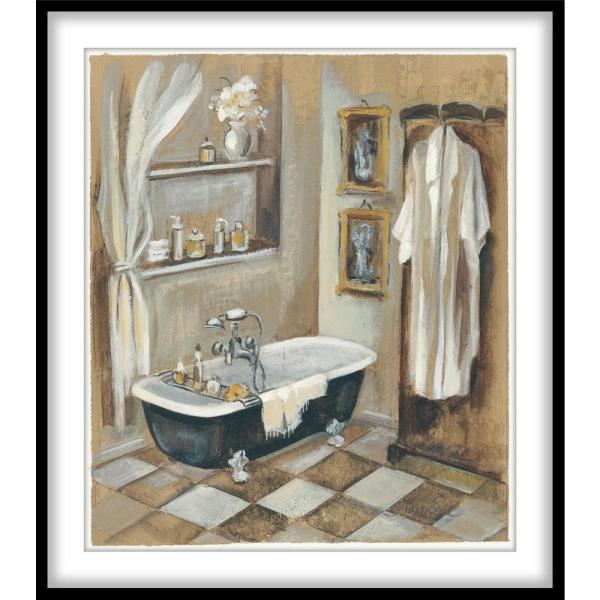 French Bath V Framed Wall Art