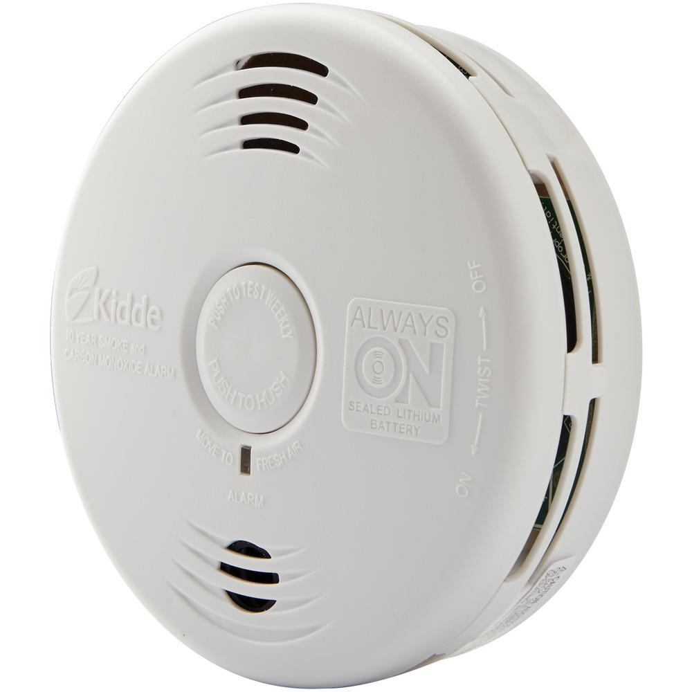 Kidde 10-Year Worry Free Sealed Battery Smoke and Carbon Monoxide Combination Detector with Voice Alarm (2-Pack)
