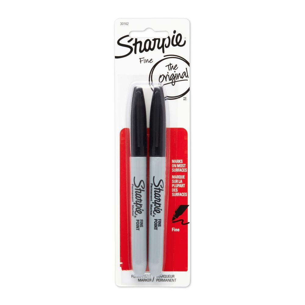 Sharpie Black Fine Point Permanent Markers (2-Pack)