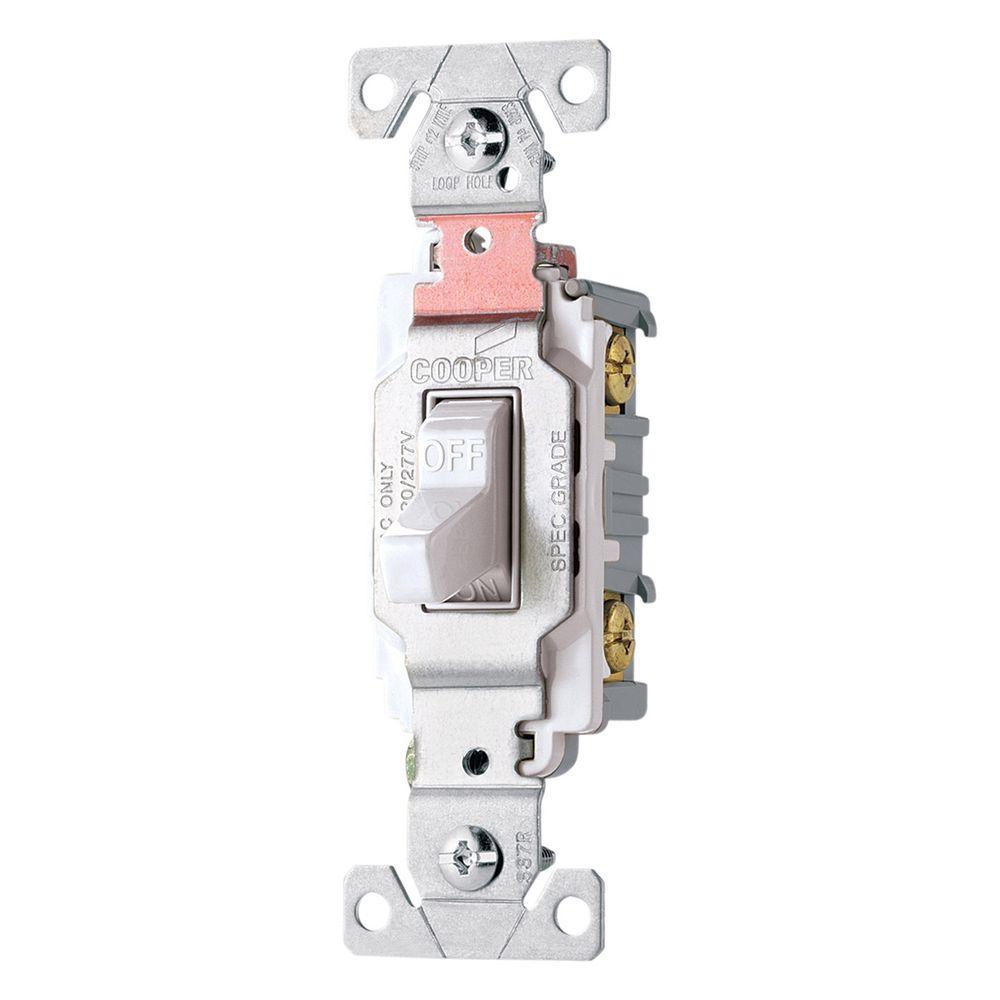 20 Amp Double Pole Premium Toggle Switch, White