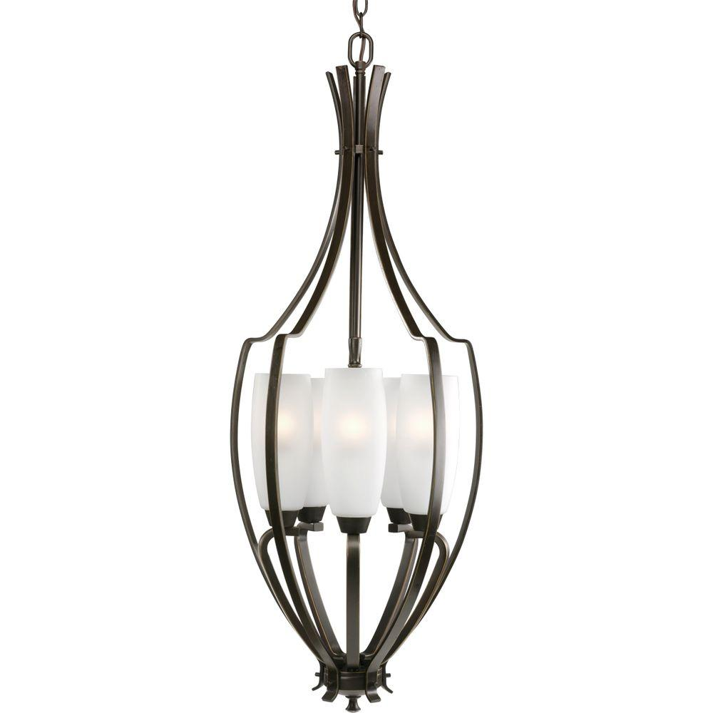 Progress Lighting Wisten Collection 5-Light Antique Bronze Foyer Pendant