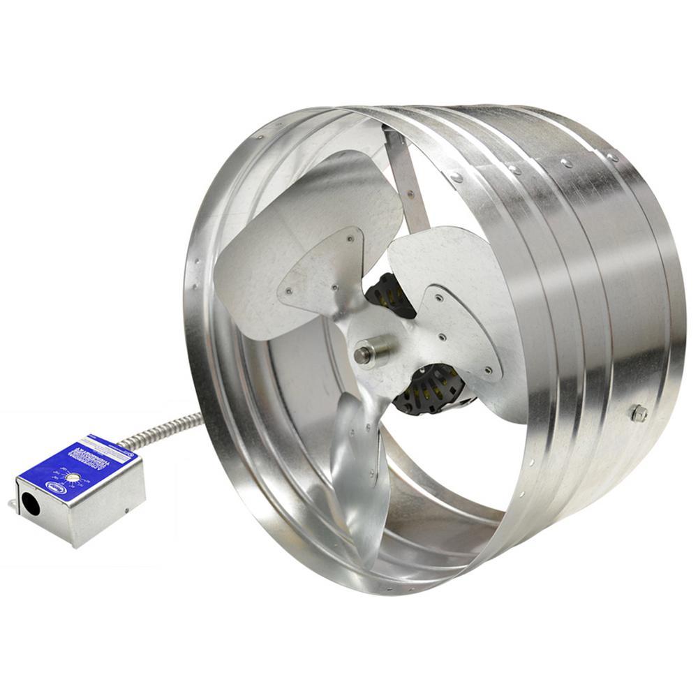 1600 CFM Silver Electric Powered Gable Mount Electric Attic Fan