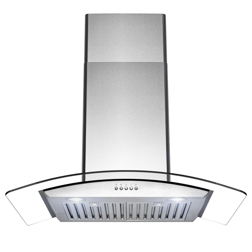 Golden Vantage 30 In 400 Cfm Convertible Wall Mount Stainless Steel Range Hood With Led
