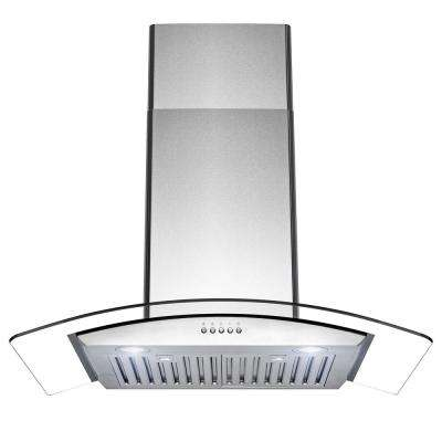 30 in. 400 CFM Convertible Wall Mount Stainless Steel Range Hood with LED Lights in Brushed Stainless Steel