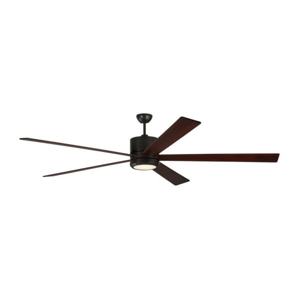 Vision 84 in. Integrated LED Oil Rubbed Bronze Ceiling Fan with Light Kit