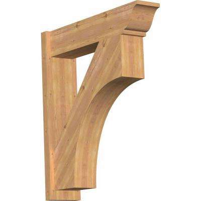 8 in. x 36 in. x 32 in. Western Red Cedar Westlake Traditional Smooth Outlooker