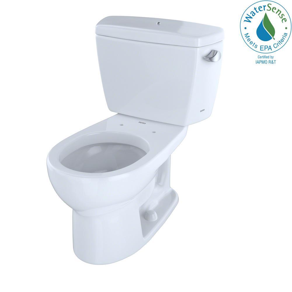 Toto Eco Drake 2 Piece 1 28 Gpf Single Flush Round Toilet