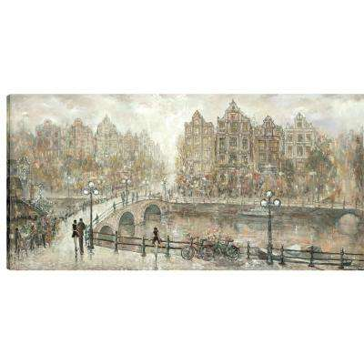 24 in. x 48 in. Afternoon Stroll, by Peter K. Printed Unframed Canvas Wall Art