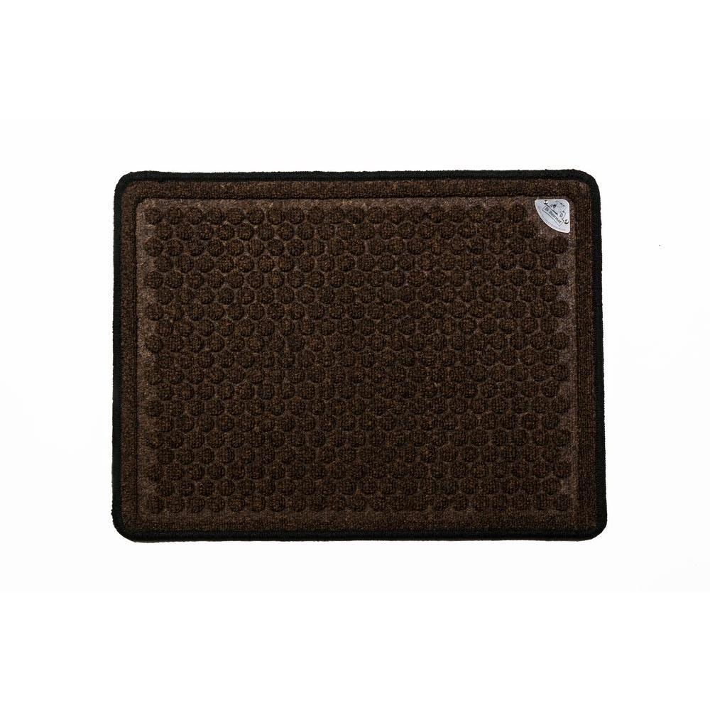 Dr. Doormat Chocolate Brown 18 in. x 24 in. Anti Microbial Treated Door Mat