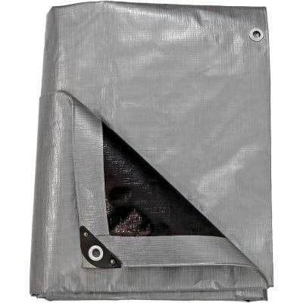 12 ft. x 16 ft. Gray-Black Polyethylene Tarp