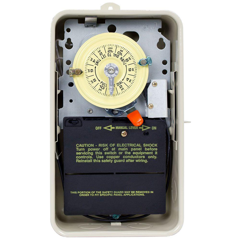 T101R201 40 Amp 24-Hour Mechanical Time Switch with Outdoor Steel Enclosure
