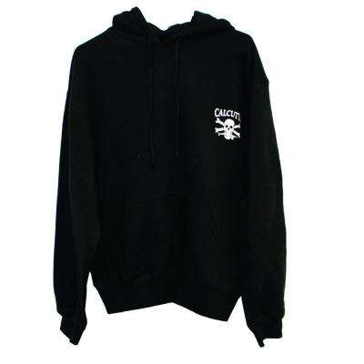 Men's Double Extra Large Two Pocket Hooded Heavy Duty Pull Over Sweatshirt in Black
