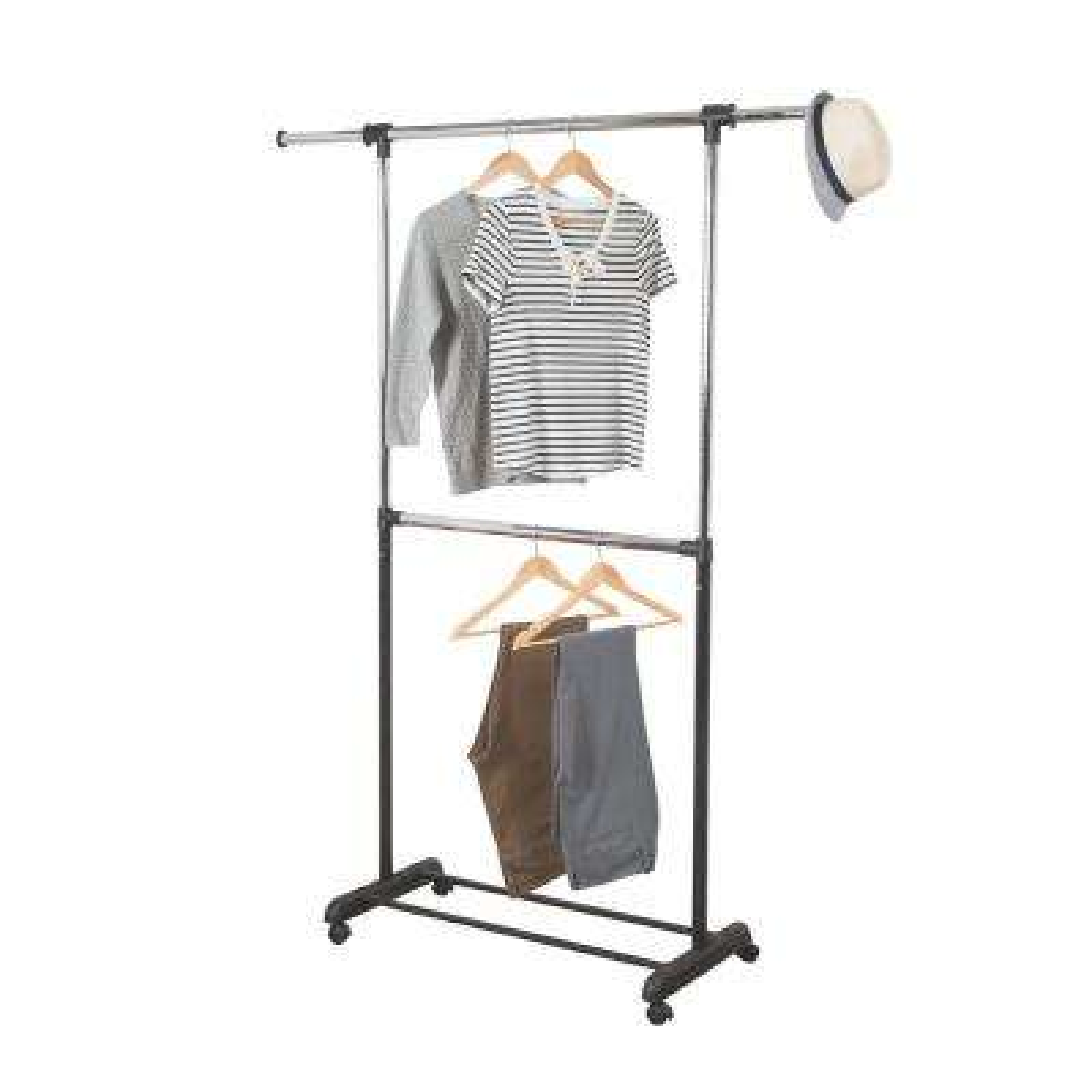 Dual Rod Expandable Garment Rack