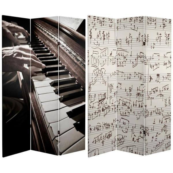 Oriental Furniture 6 ft. Printed 3-Panel Room Divider CAN-MUSIC