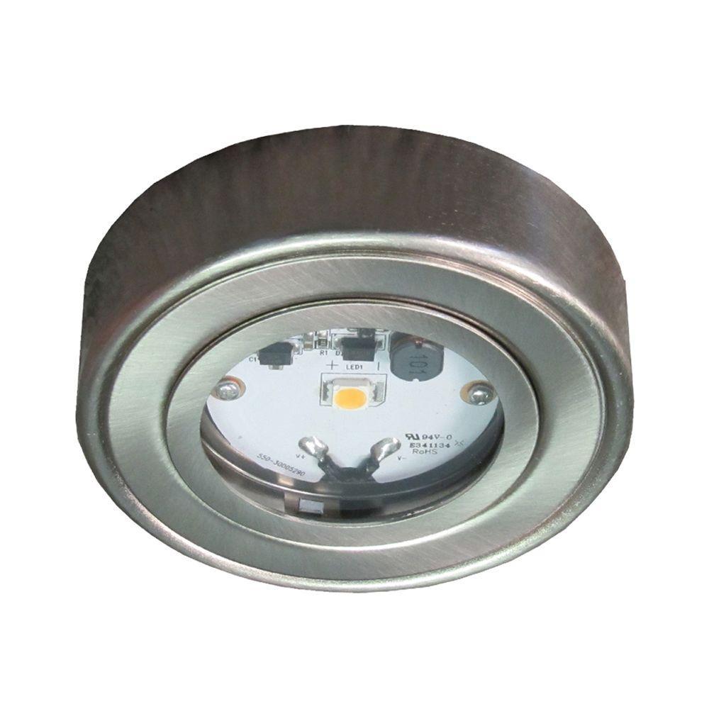 Enviro Satin Nickel Metal Led Puck Light 3 Pack I: Enviro Satin Nickel Metal LED Puck Light-I-HPLSN