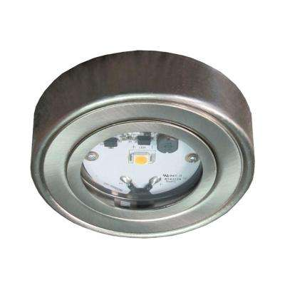Enviro Satin Nickel Metal LED Puck light