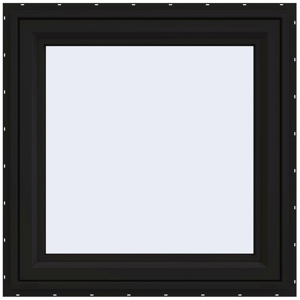 JELD-WEN 29.5 in. x 29.5 in. V-4500 Series Right-Hand Casement Vinyl Window - Black