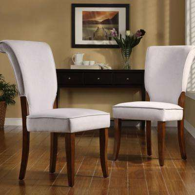 Pearlescent Grey Velvet Side Chair (Set of 2)