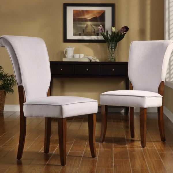 Pearlescent Grey Velvet Side Chair (Set of 2) 40852C715W[2PC]
