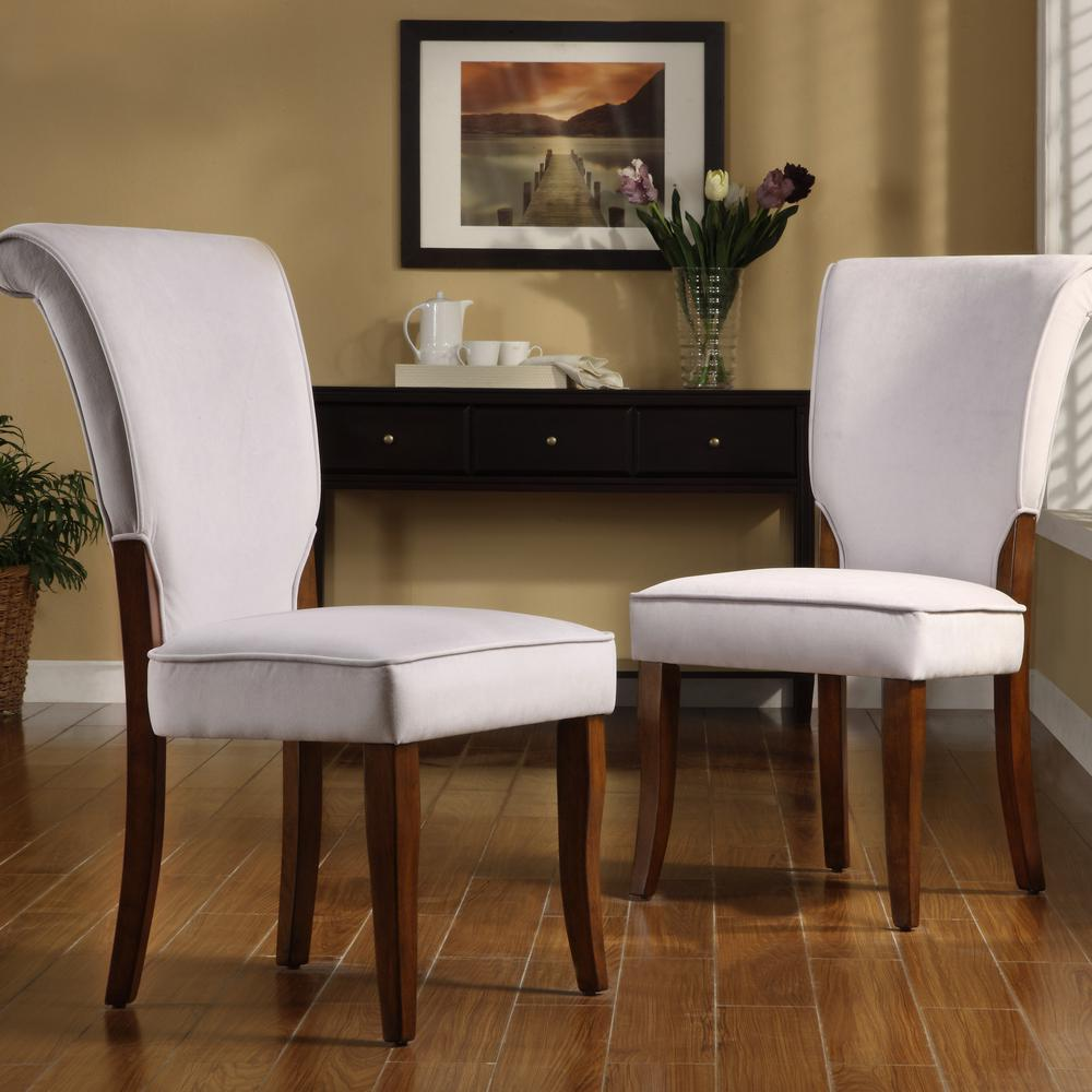 Home Decorators Collection Pearlescent Grey Velvet Side Chair (Set of 2)