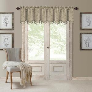Mia 52 inch W x 19 inch L, Polyester Blackout Woven Window Curtain Drape Valance in Natural by