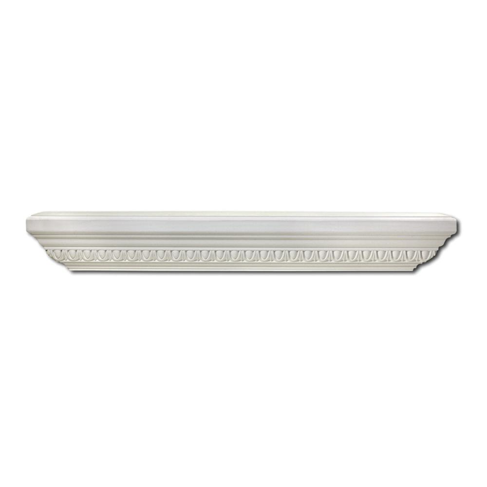 Focal Point 36 in. x 7-1/2 in. Primed Polyurethane Egg and Dart Decorative Shelf