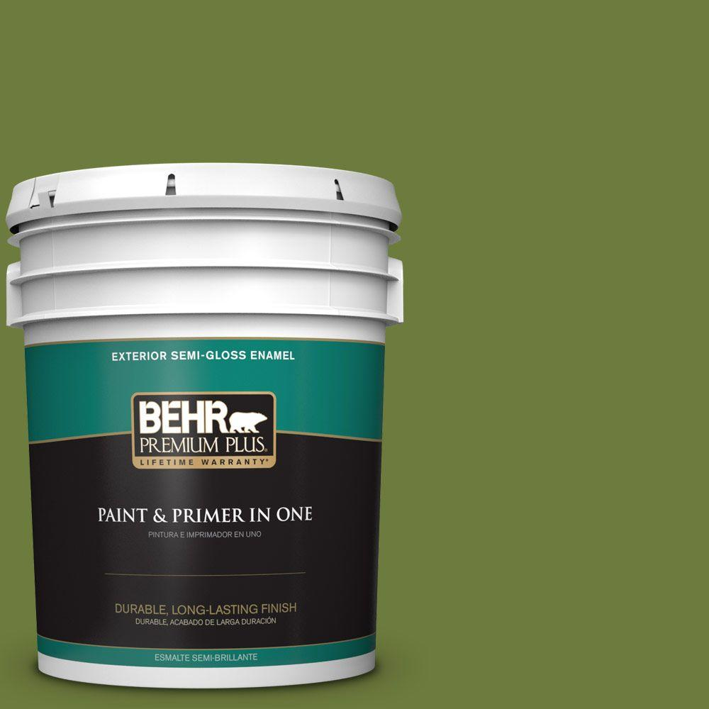 5 gal. #HDC-SM16-11 Hot Dog Relish Semi-Gloss Enamel Exterior Paint