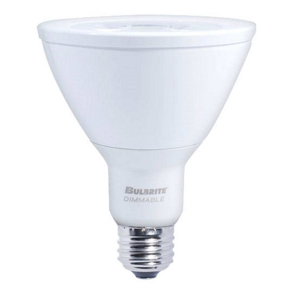 Bulbrite 75W Equivalent Soft White Light PAR30LN Dimmable LED Narrow Flood Light Bulb