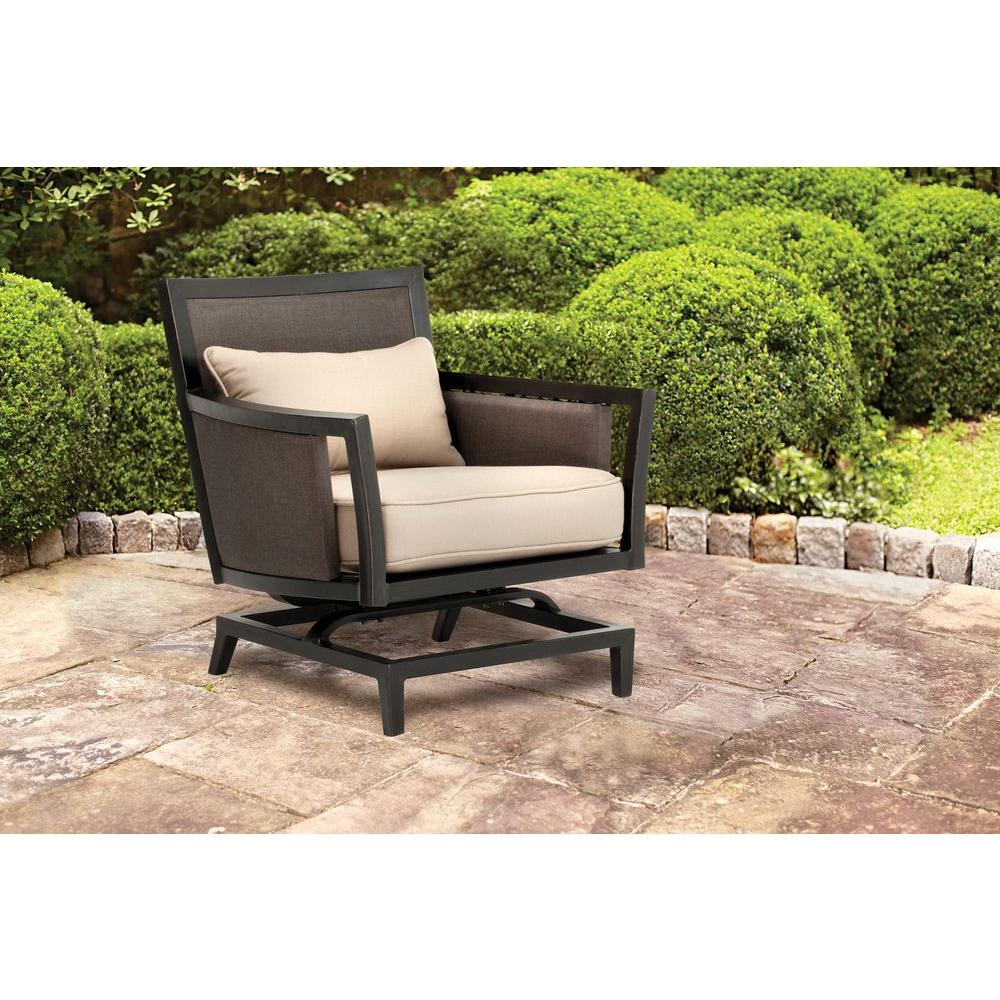 Brown Jordan Greystone Patio Motion Lounge Chair In Sparrow    STOCK