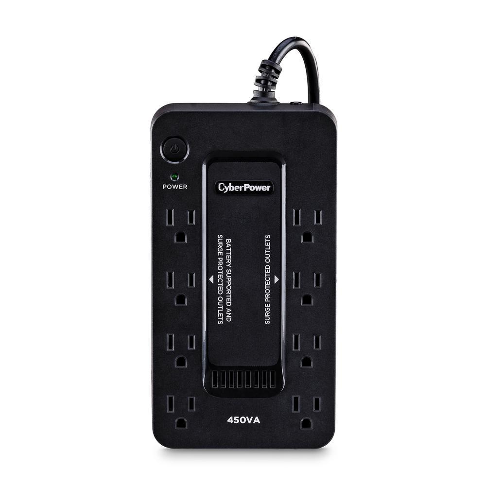 450VA 120-Volt 8-Outlet UPS Battery Backup