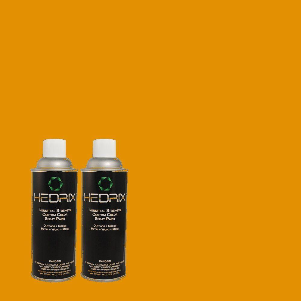 Hedrix 11 oz. Match of 10YY34/700 Butterscotch Tempest Gloss Custom Spray Paint (2-Pack)