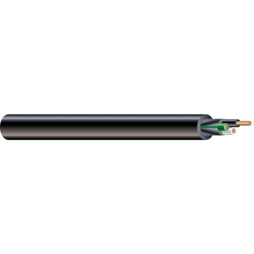 (By-the-Foot) 14/3 300-Volt CU Black Flexible Portable Power SJOOW Cord