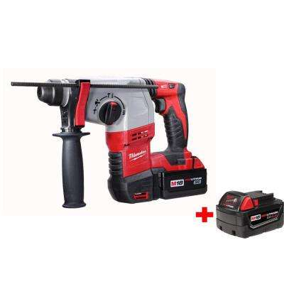 M18 18-Volt Lithium-Ion 7/8 in. Cordless SDS-Plus Rotary Hammer Kit W/ Free 4.0AH Battery